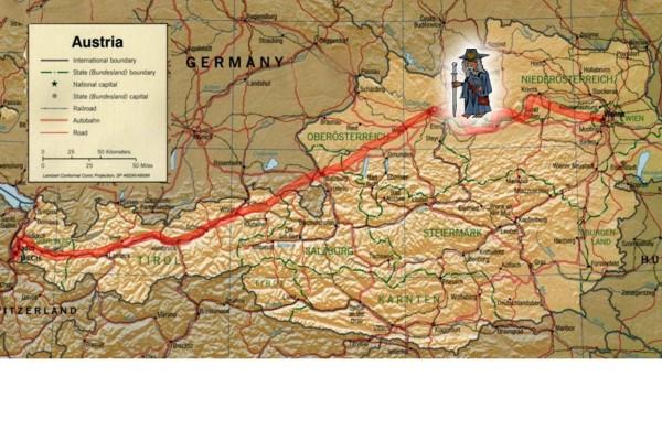 Karte Wien Niederosterreich.Jakobsweg Wien Niederosterreich Jakobsweg Or At