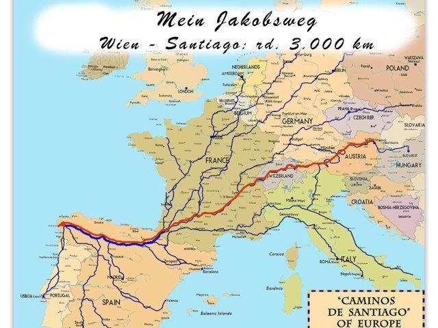 Jakobsweg Von Wien Nach Santiago Jakobsweg Or At