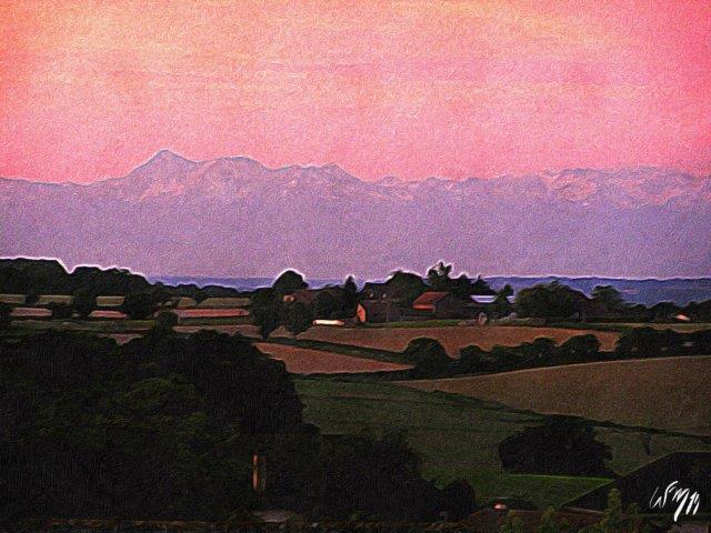 Pyrenäen-im-Morgenrot